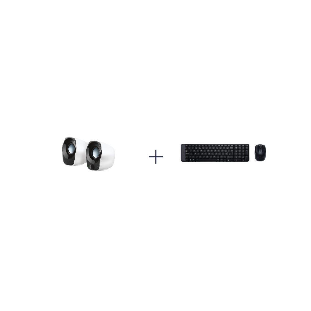 [Bundle] Logitech Z120 Compact Stereo USB Powered Speakers + Logitech MK220 Compact Wireless Keyboard Mouse Combo