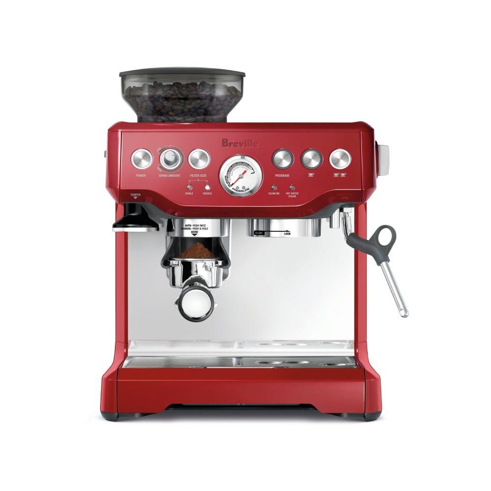 Breville BES870CRN Espresso Maker - Red