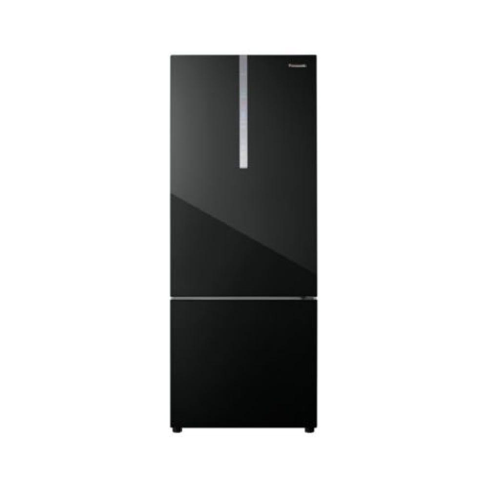 Panasonic 465L 2-door Bottom Freezer Refrigerator Black Glass Door NR-BX471WGKM
