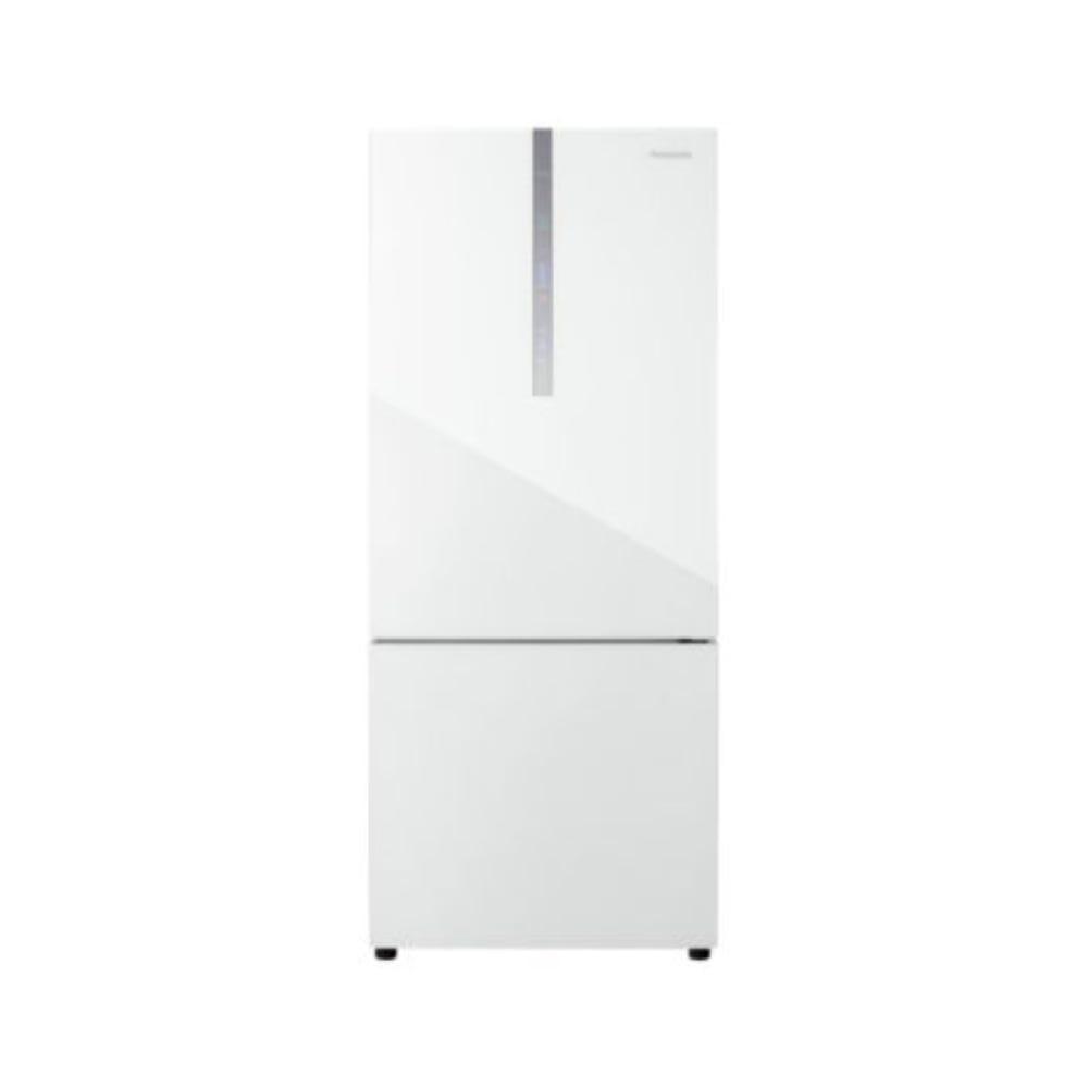 Panasonic 422L 2-door Bottom Freezer Refrigerator White Glass Door NR-BX421WGWM