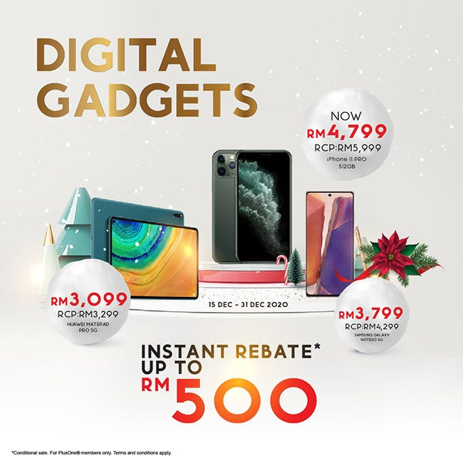 Instant Rebate up to RM500