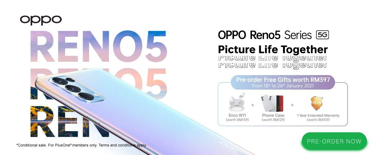 Pre-order the OPPO Reno5 5G Series
