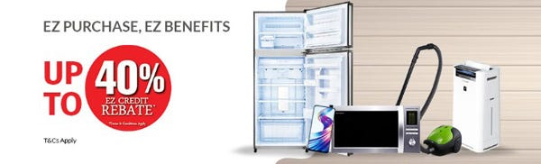 Up to 40% in rebates through purchase