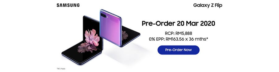 Pre-order the Samsung Galaxy Z Flip with us!