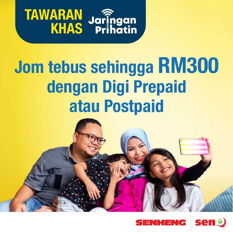 Remember to Apply the Jaringan Prihatin Program at Our Stores!
