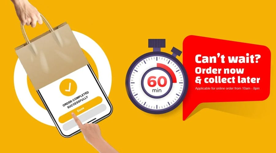 Can't Wait? Order Now & Collect later