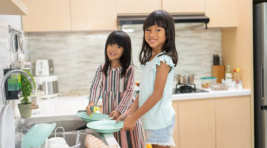 Have a household cleaning roster with your siblings