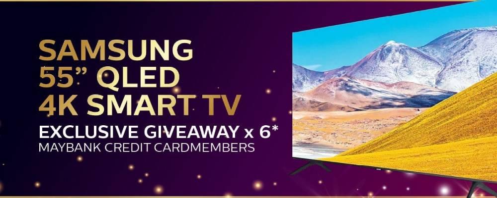 "Samsung 55"" QLED 4k SMART TV for Maybank Credit Cardmembers"