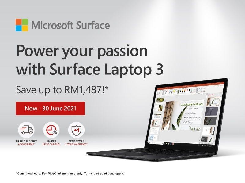 Microsoft Surface Laptop 3 Banner