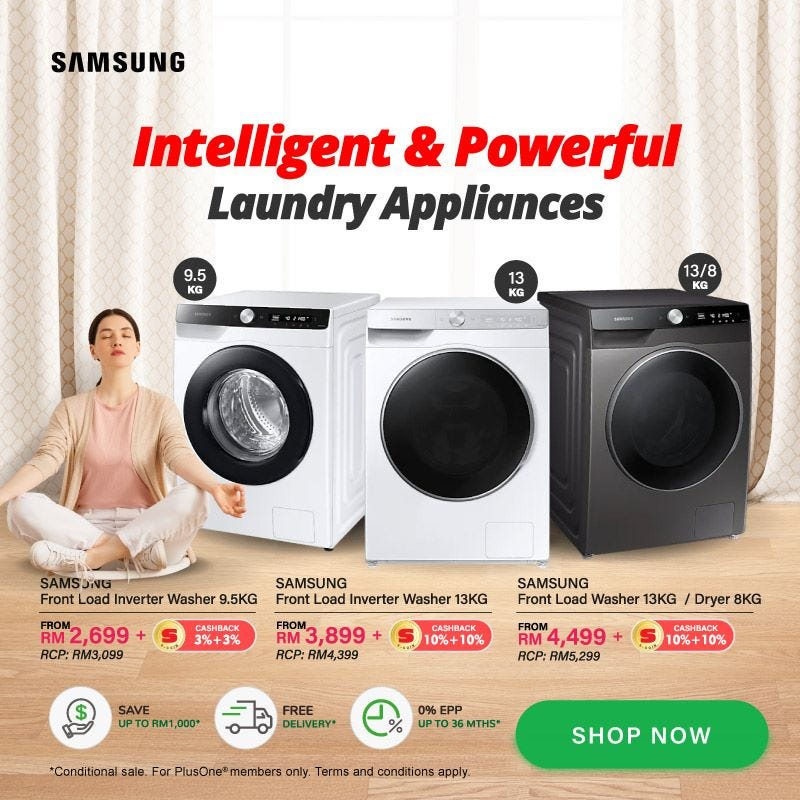 Samsung Intelligent and Powerful Laundry Appliances