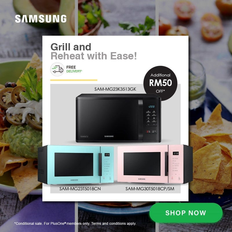 Samsung Grill and Reheat with Ease