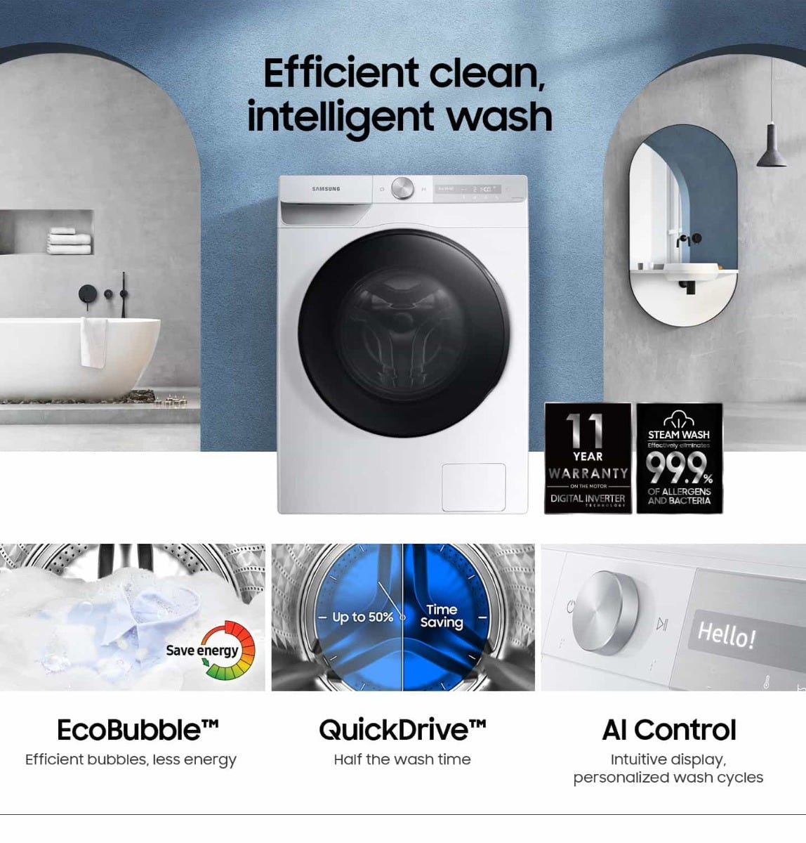 Samsung Efficient Cleaning