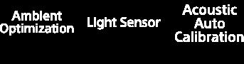 Ambient Optimization Light Sensor Acoustic Auto Calibaration