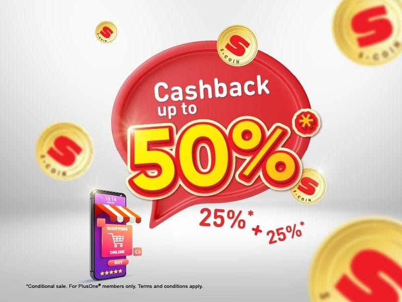 Cashback Up to 50%