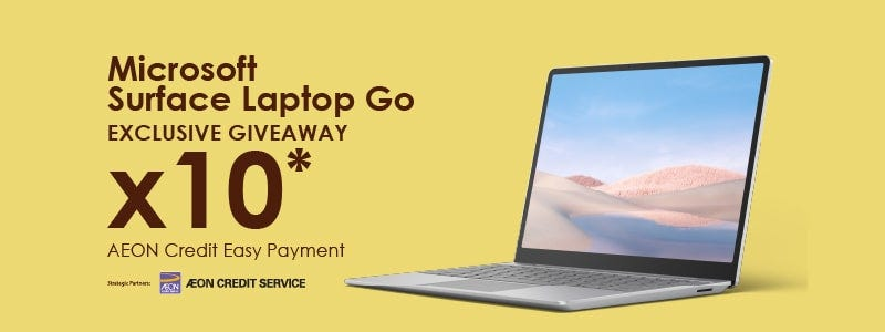 AEON Microsoft Surface Laptop Go Giveaway