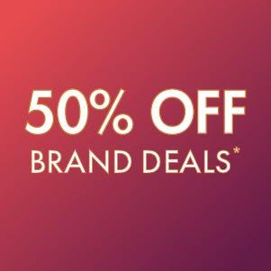 50% off Brand Deals