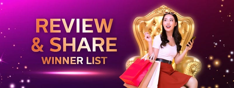 Review and Share | Winner List