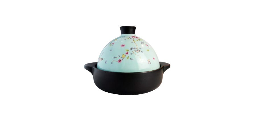 Color King 2000ML (Ideal for 3-5 Pax) 100% Ceramic Pot Tangine Series Tiffany Blue