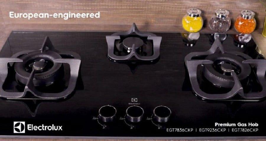 Electrolux 90cm Potenza Gas Hob with 2 burners EGT9229CK