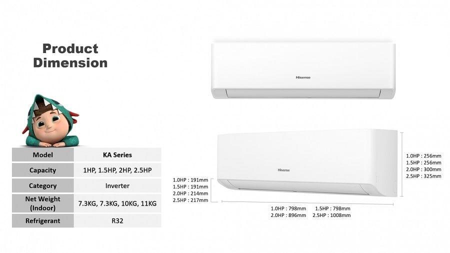 Hisense R32 Inverter Air Conditioner (KA) HSE-AI10KAG