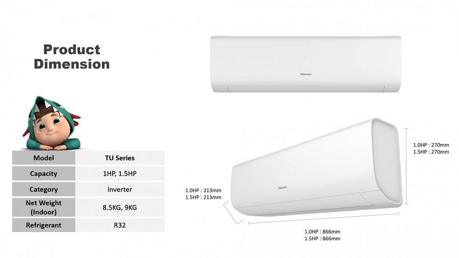 Hisense 1.0HP R32 Inverter Air Conditioner (TU)