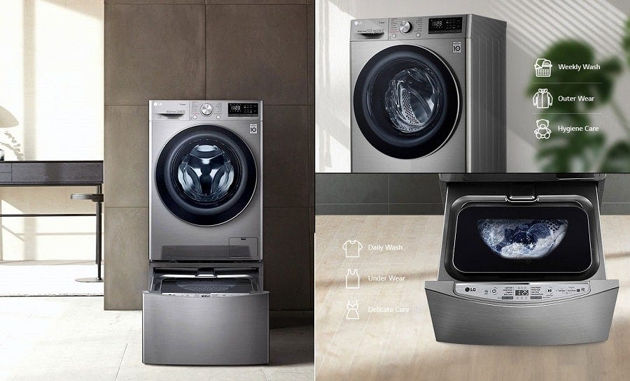 LG 10.5kg Ai Direct Drive Washing Machine with Steam™ Function LG-FV1450S4V