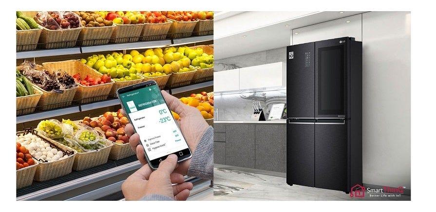 LG 595L InstaView Door-in-Door Slim French Door LG-GCQ22FTQKL Matte Black
