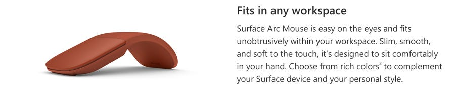 Microsoft Surface Arc Mouse (Silver) MS-MIC-CZV-00005