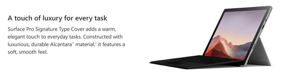Microsoft Surface Pro Type Cover (Black) MS-MIC-FMM-00015