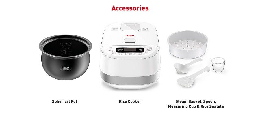 Tefal 1.5L Induction Rice Cooker White RK808